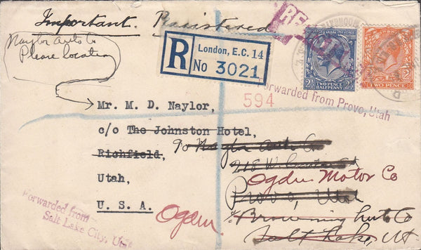 97434 - GEO.C.GINN and CO/STAMP DEALERS. 1932 envelope sent ...