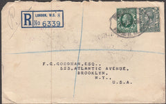 97438 - R.ROBERTS STAMP DEALER. 1935 envelope sent registe...