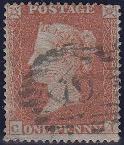 97510 - PL.191 (CI)(SG17). Good used 1854 die 1 1d pl.191 ...
