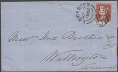 97538 - RES.PL.5 (TI) PERF 14 (SG22) ON COVER. 1855 wrappe...