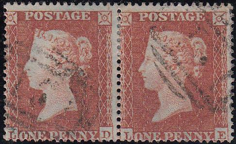 97793 - PL.202 (LD LE)(SG17). Good to fine used 1854 die 1...