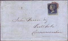 99148 - 2D BLUE PL.4 S.C.16 (IA) (SG19) USED ON COVER.