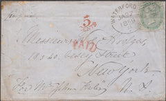 99202 - WATERFORD IRISH TYPE SPOON (RA59)/1S GREEN (SG73) ON COVER.