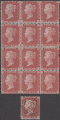 99307 - 1D DIE 2 PL.35 MINT BLOCK OF 12 ON BLUED PAPER (SG29).