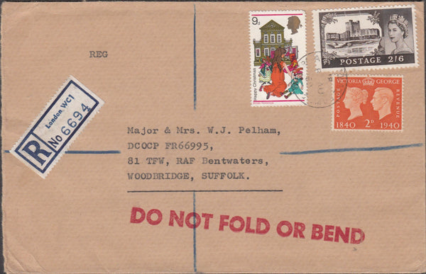 99656 - 1969 KGVI AND QEII COMBINATION ON COVER.