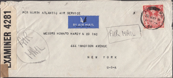 99713 - 1941 MAIL LONDON TO NEW YORK.