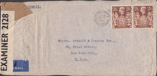99745 - 1942 MAIL LONDON TO NEW YORK.
