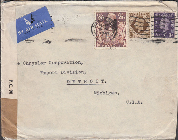 99775 - 1941 MAIL MANCHESTER TO USA.