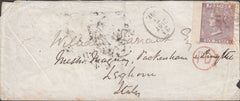 99798 - 1864 MAIL ISLE OF MAN TO ITALY.