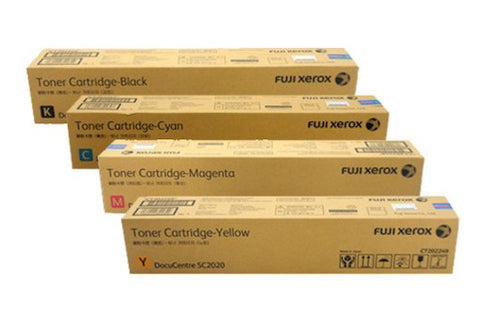 Fuji Xerox Genuine full set CT202396 - CT202399 Extra High Yield Toner SC2020NW