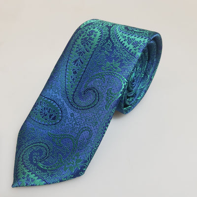 Blue green paisley - The PERSONA Store
