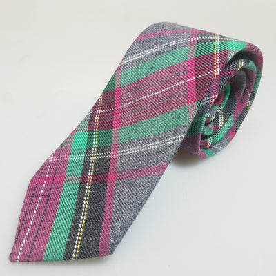 Gray fuchsia green tartan - The PERSONA Store