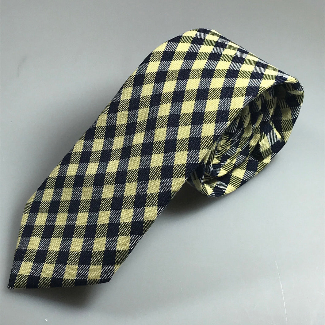 Navy and Yellow Check - The PERSONA Store