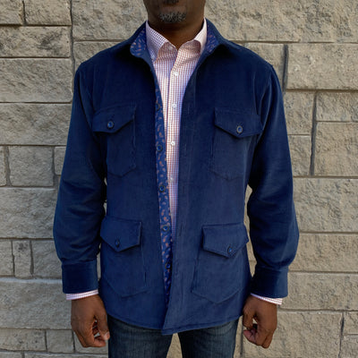 Navy Corduroy Shirt Jacket (Shacket) - The PERSONA Store