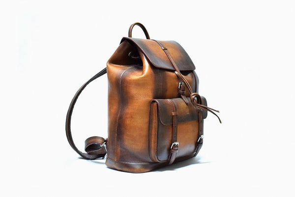 Trivoro Brown Backpack - The PERSONA Store