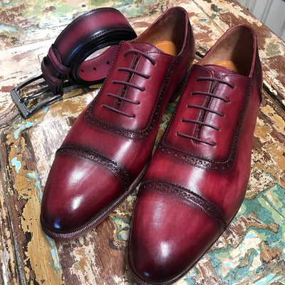 Burgundy Cap Toe - The PERSONA Store