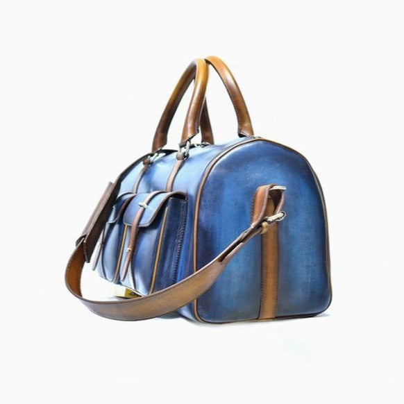 Dozano Blue w/ Brown Duffle - The PERSONA Store