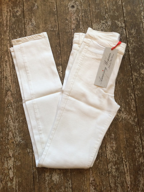 Amazing Woman Venus 12 White Ankle Grabber Jeans