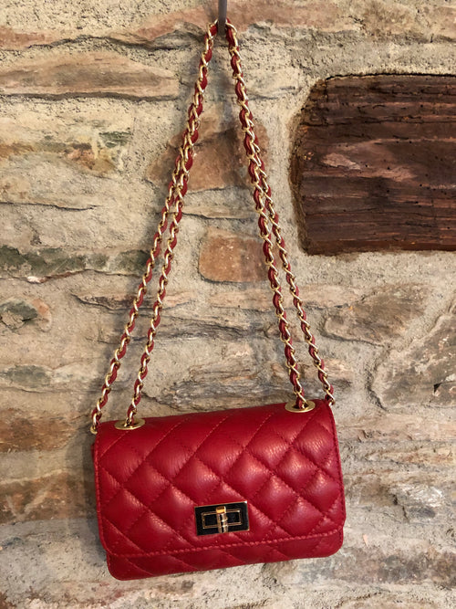 Keira Leather Bag - Red