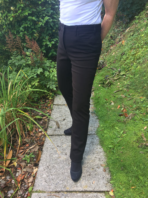 Amazing Woman Straight Leg Simone Trousers in Black