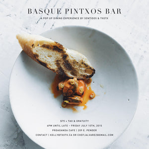 Pintxo Pop-Up in Vancouver, BC