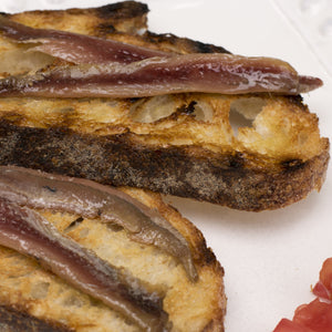 Cantabrian Anchovies on Grilled Toast