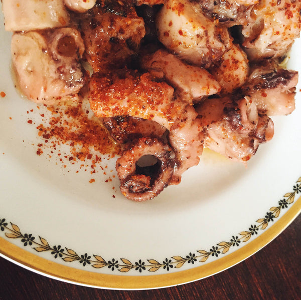 Octopus in Olive Oil with Piment d'Espelette