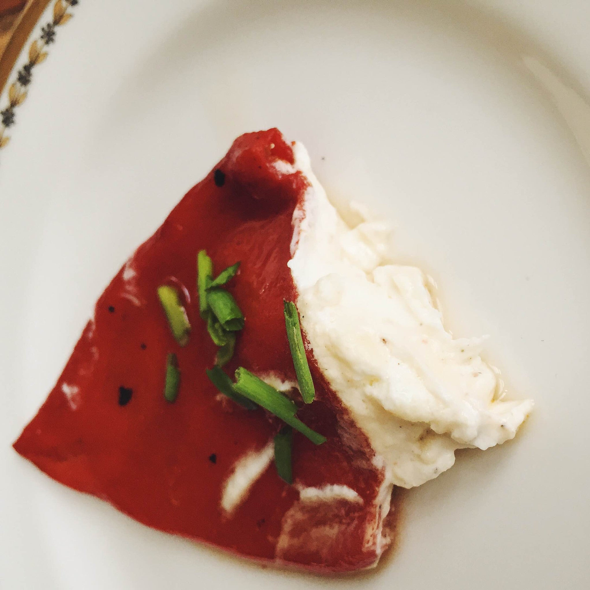 Pan-Seared Piquillo Pepper stuffed with Goat Cheese