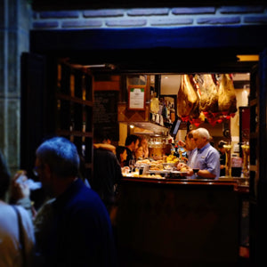 Pintxo Bar at Night Parte Vieja San Sebastian Spain - Donostia Foods
