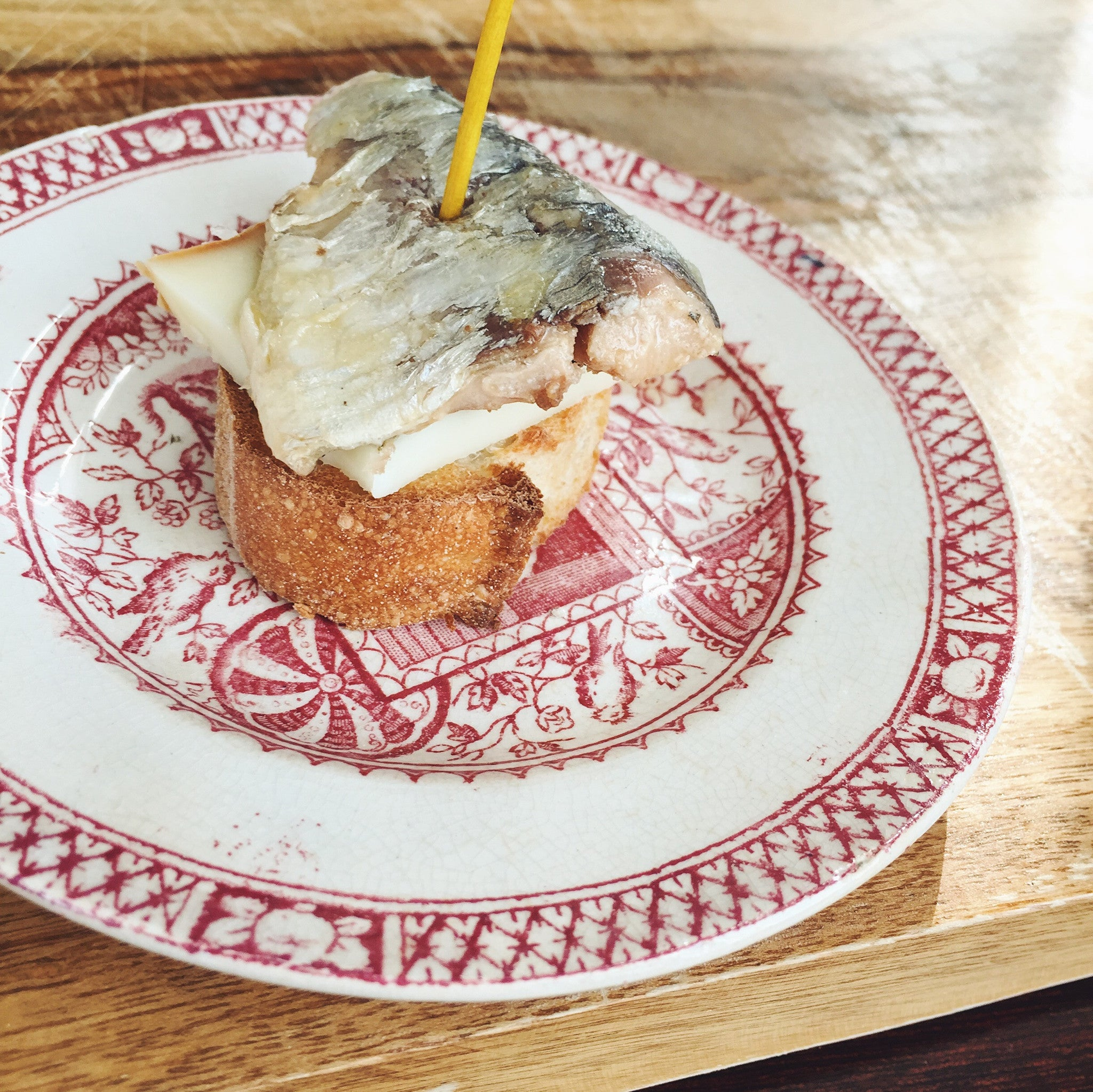 Sardine in Olive Oil with Basque Cheese Pintxo