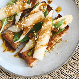 White Asparagus with Mala Spice Vinaigrette