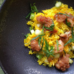 Bacalao over saffron rice - Donostia Foods