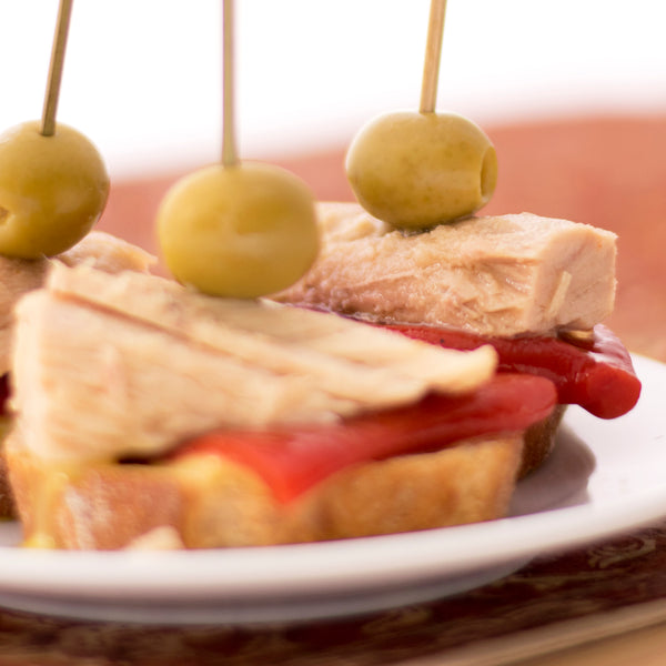 Bonito del Norte Tuna with Olives and Piquillo Peppers - Donostia Foods