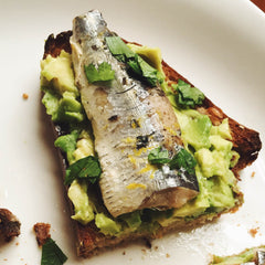 Sardine Avocado Sandwiches