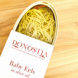Baby eels in olive oil - angulas - Donotia Foods