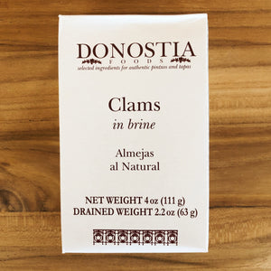 Tinned clams carton - Donostia Foods