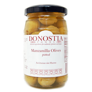 Pitted Spanish manzanilla olives - Donostia Foods