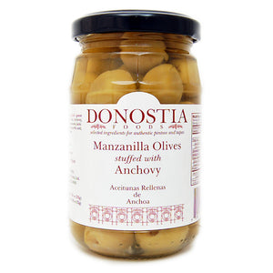 Manzanilla Olives stuffed with Anchovy - Donostia Foods