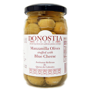Manzanilla Olives stuffed with Blue Cheese - Donostia Foods