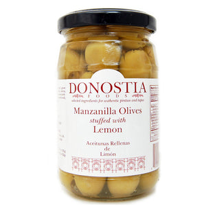 Manzanilla Olives stuffed with Lemon - Donostia Foods