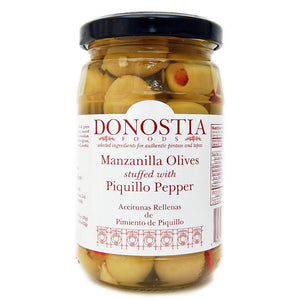 Manzanilla Olives stuffed with Piquillo Pepper - Donostia Foods