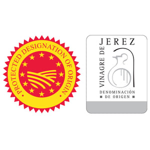 Gran Reserva Sherry Vinegar AOP Designation of Origin seals - Donostia Foods