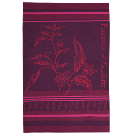 Jean Vier Tea Towel - Espelette Pepper - Donostia Foods