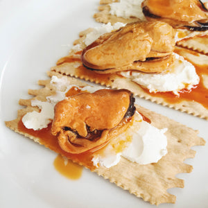 Mussels in Escabeche with Goat Cheese - Donostia Foods