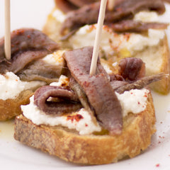 Anchovies with Fresh Ricotta & Piment d'Espelette Pintxo - Donostia Foods
