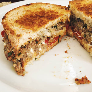 Sardine rillettes with piquillo pepper and goat cheese sandwich - Donostia Foods