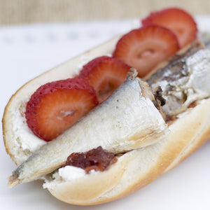 Sardines and Strawberries Sandwich