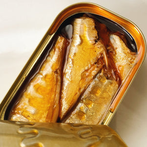 A tin of sardines in escabeche sauce - Donostia Foods