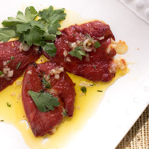 Seared Piquillo Peppers stuffed with Manchego Cheese