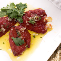 Seared Piquillo Peppers stuffed with Manchego Cheese - Donostia Foods
